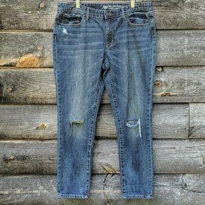 GAP Distressed Sexy Boyfriend Fit Blue Jeans